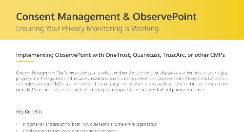 Consent Management & ObservePoint