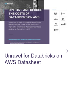 Unravel for Databricks on AWS Datasheet