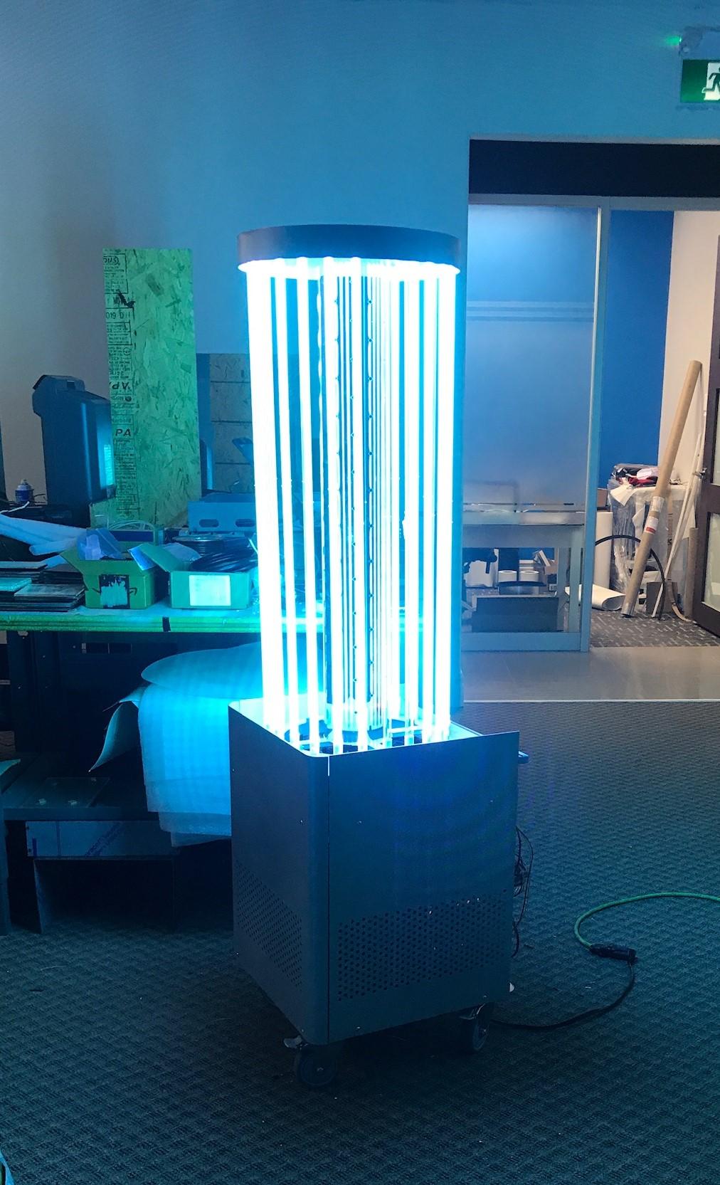 Prototype du robot de stérilisation Lightshield™ Hyperflow™
