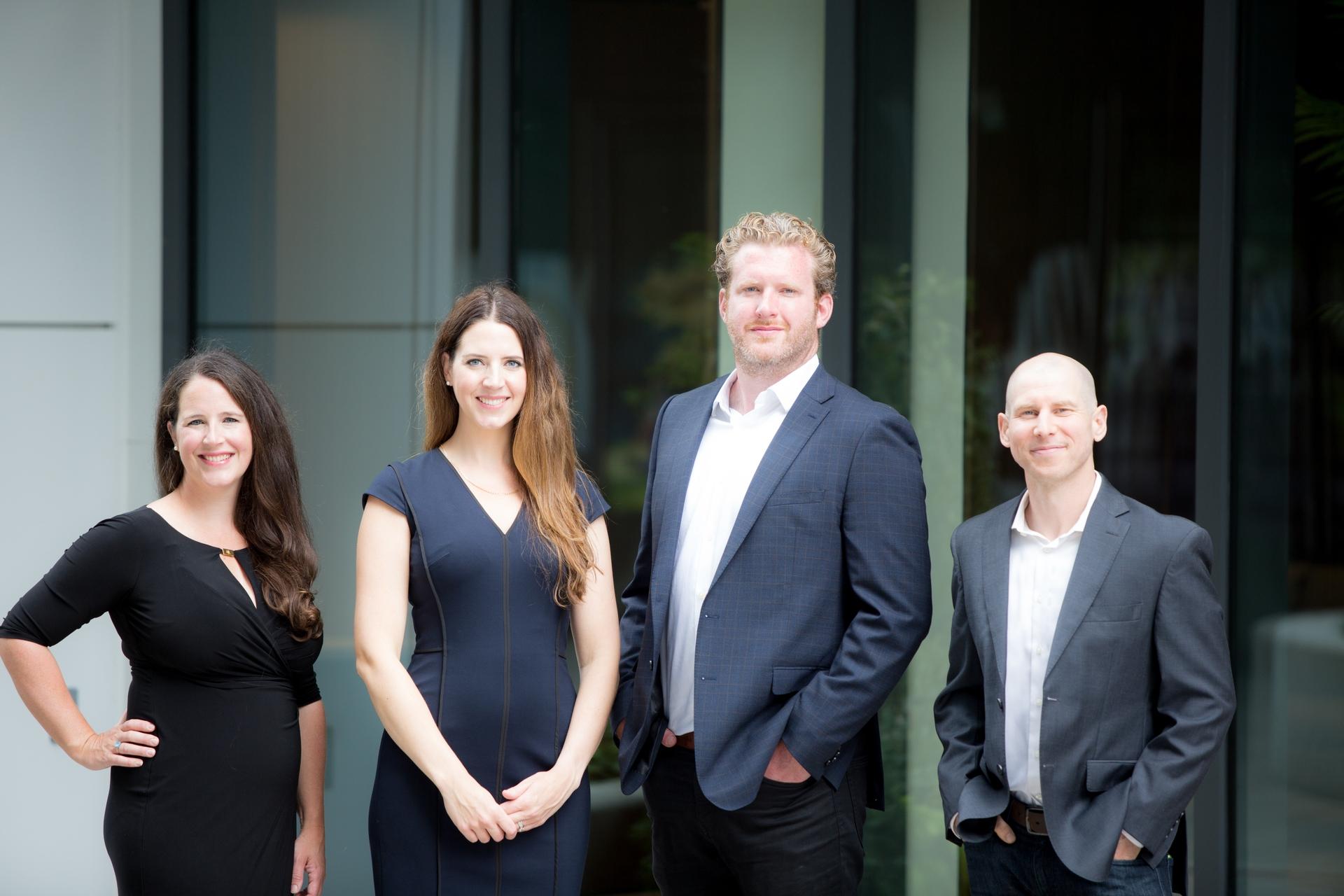 Membres de l'équipe de Takaya Technology Dre Susan Ripley, Erin MacKean, Andrew MacKean et Lee Babin