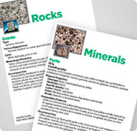 Geology specimen key cards