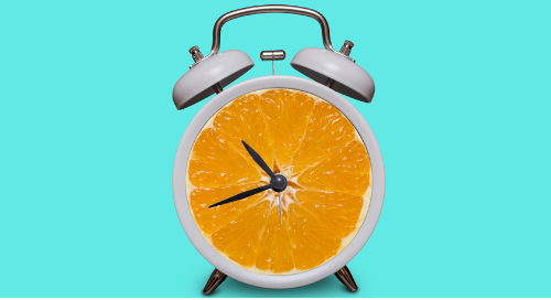 A battery of hands-on science fun with this free Orange Clock activity