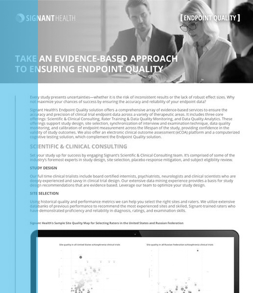Signant Health Endpoint Quality solution overview