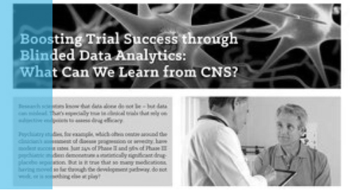 Boosting Trial Success through Blinded Data Analytics: What Can We Learn from CNS