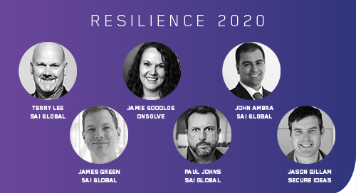 Featured speakers at our Resilience 2020 virtual event on business continuity.