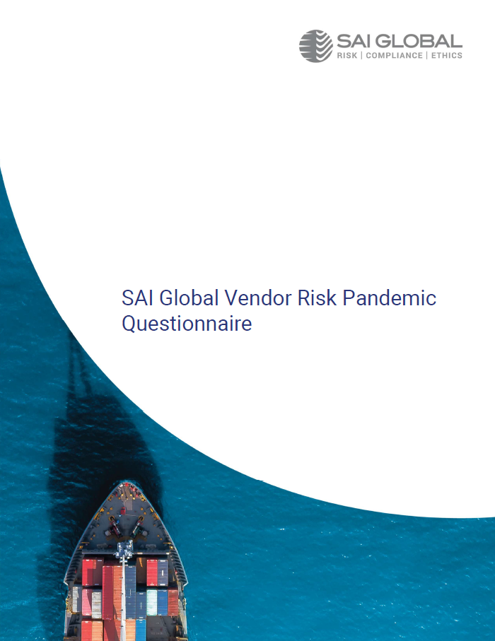SAI Global Vendor Risk Pandemic Questionnaire