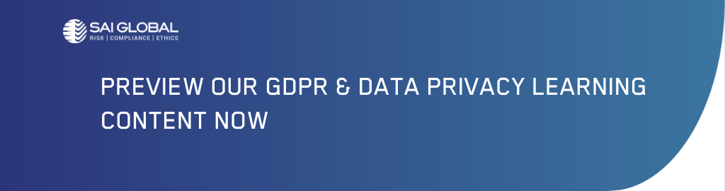 Preview GDPR and Data Privacy Courses from SAI Global