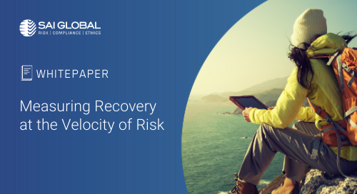 Measuring Recovery at the Velocity of Risk