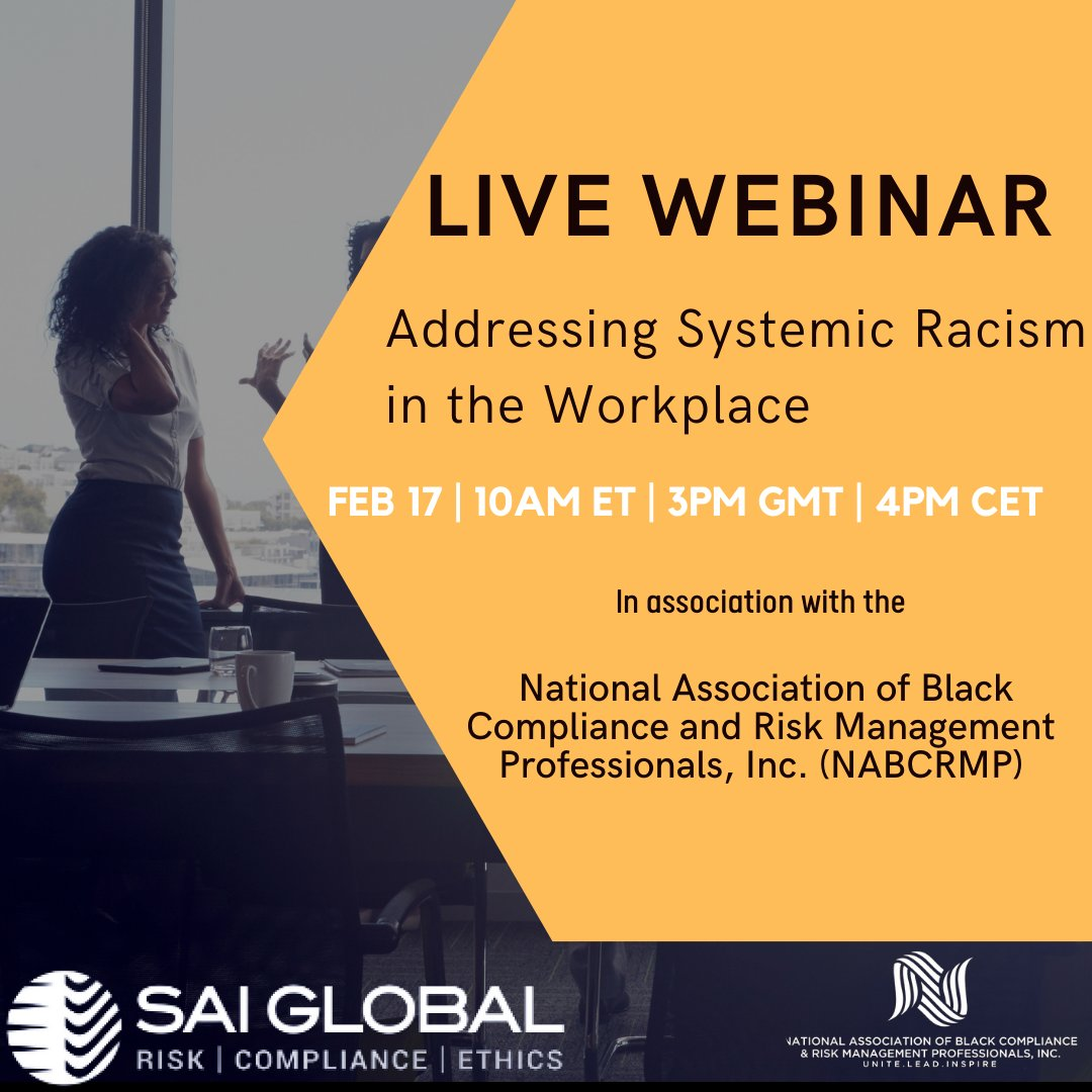 Addressing Systemic Racism in the Workplace, Feb. 17