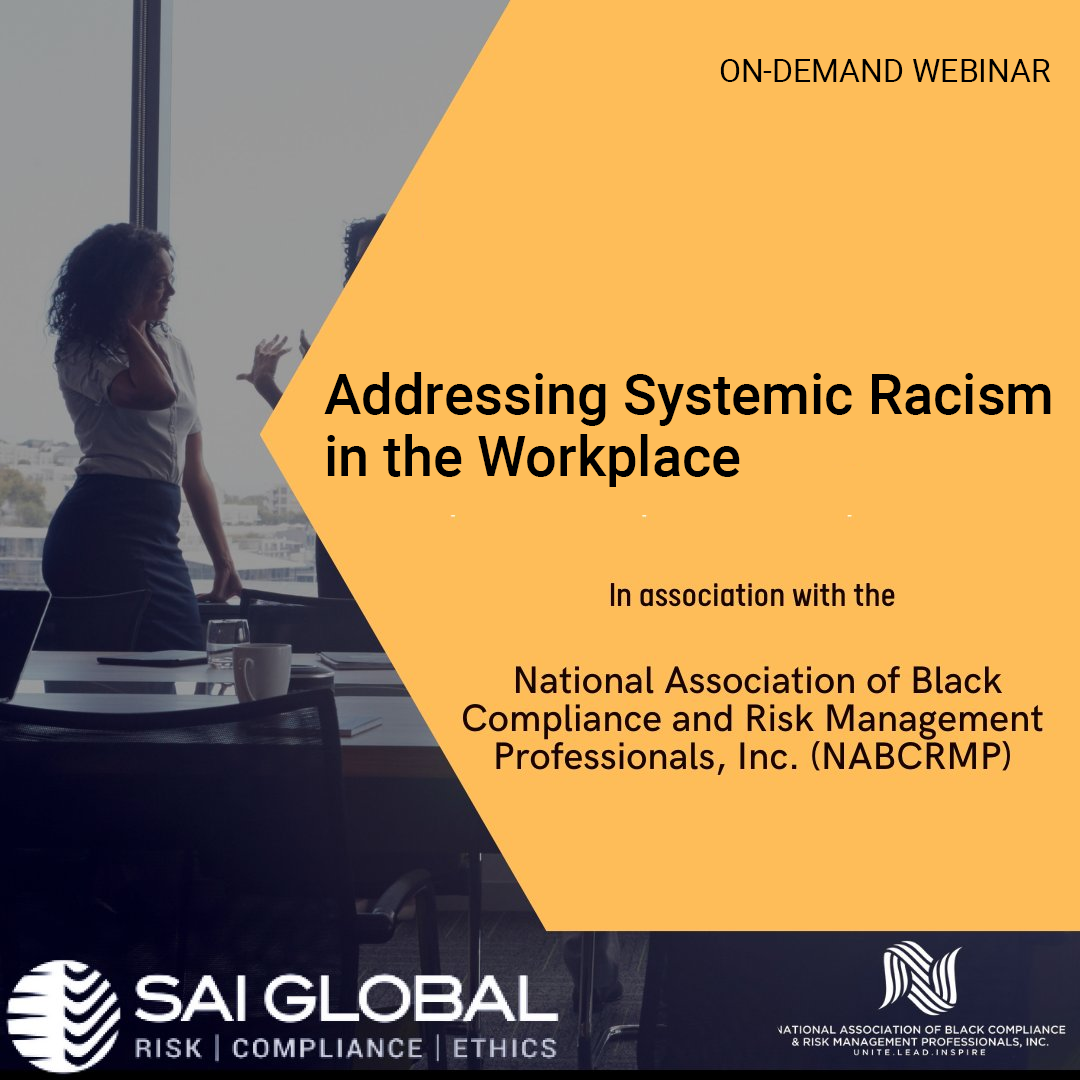Webinar: Addressing Systemic Racism in the Workplace