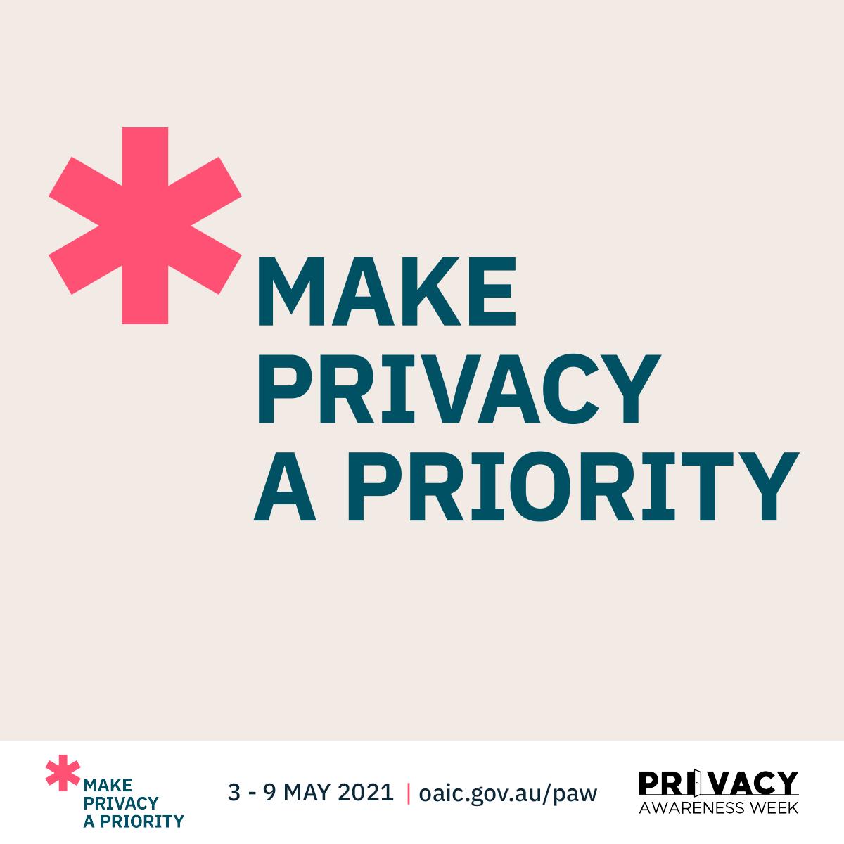 Privacy Awareness Week, May 3-9 in Australia
