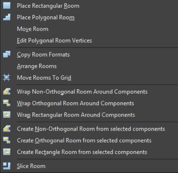 Различные варианты задания комнат в Altium Designer