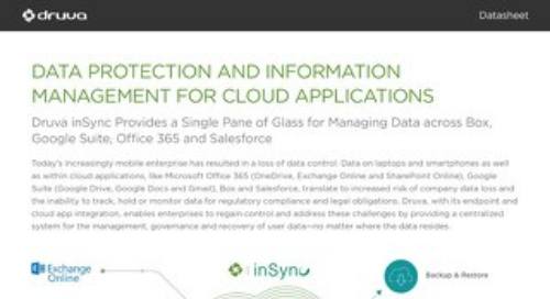 Druva inSync for Cloud Applications