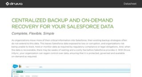 Centralized Backup and On-Demand Recovery for Your Salesforce Data