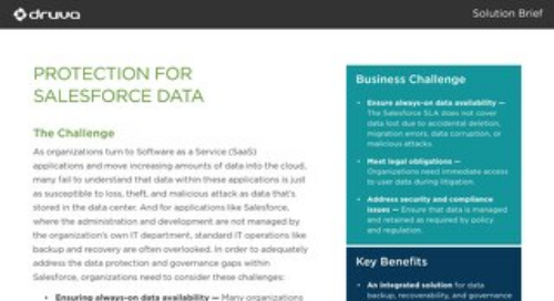 Protection for Salesforce Data
