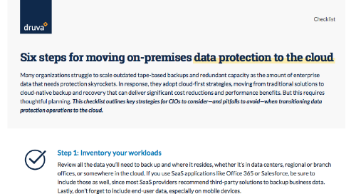 Six Steps for Moving On-Premises Data Protection to the Cloud