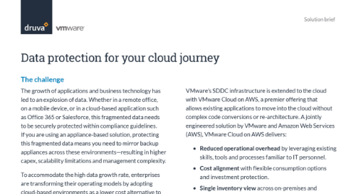 Data protection for your cloud journey