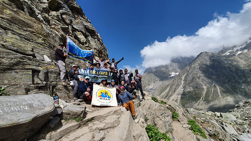 Personiv Team summiting Kullu Valley in Himachal Pradesh India