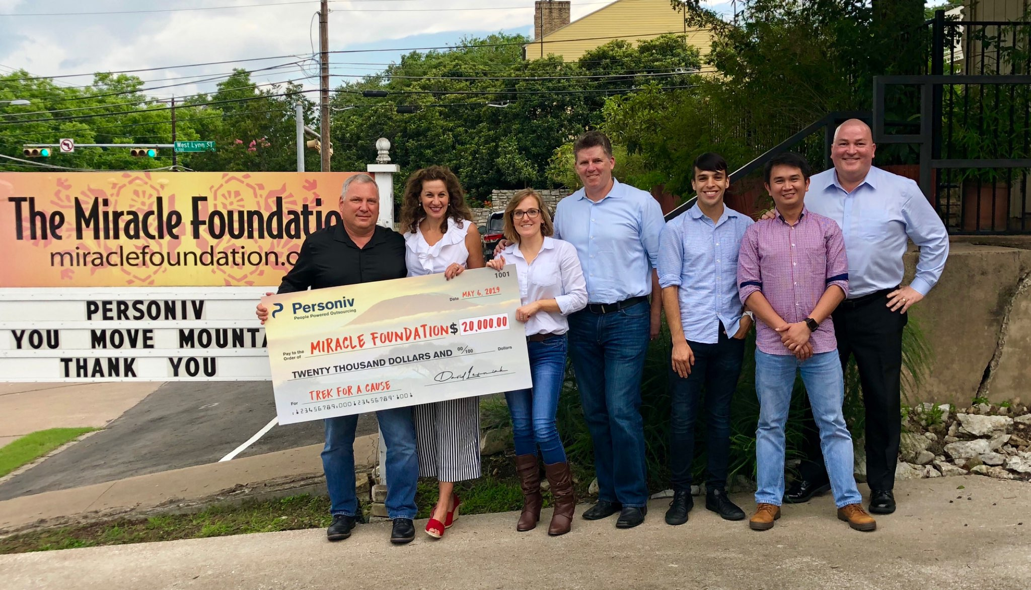 Miracle Foundation Donation