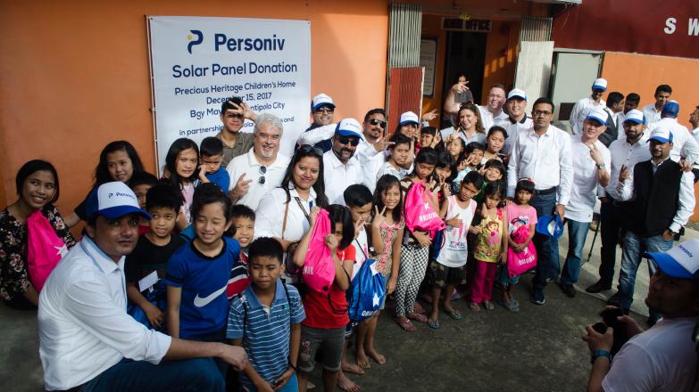 Personiv Solar Panel Donation