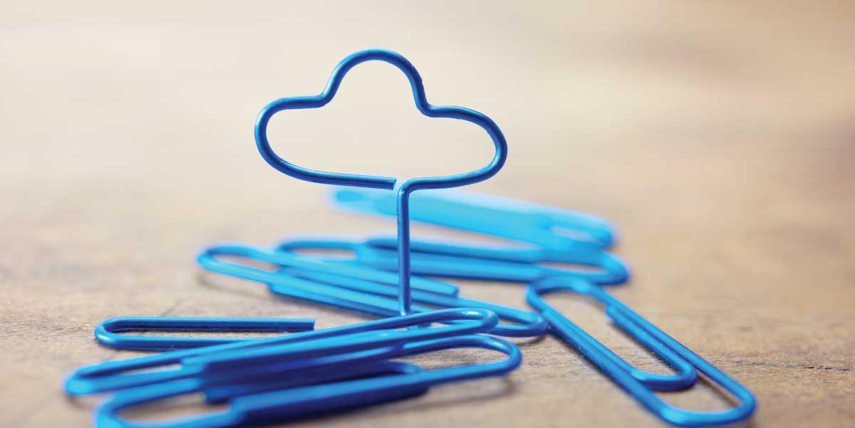 paper clip bent to form a cloud vs bpaas