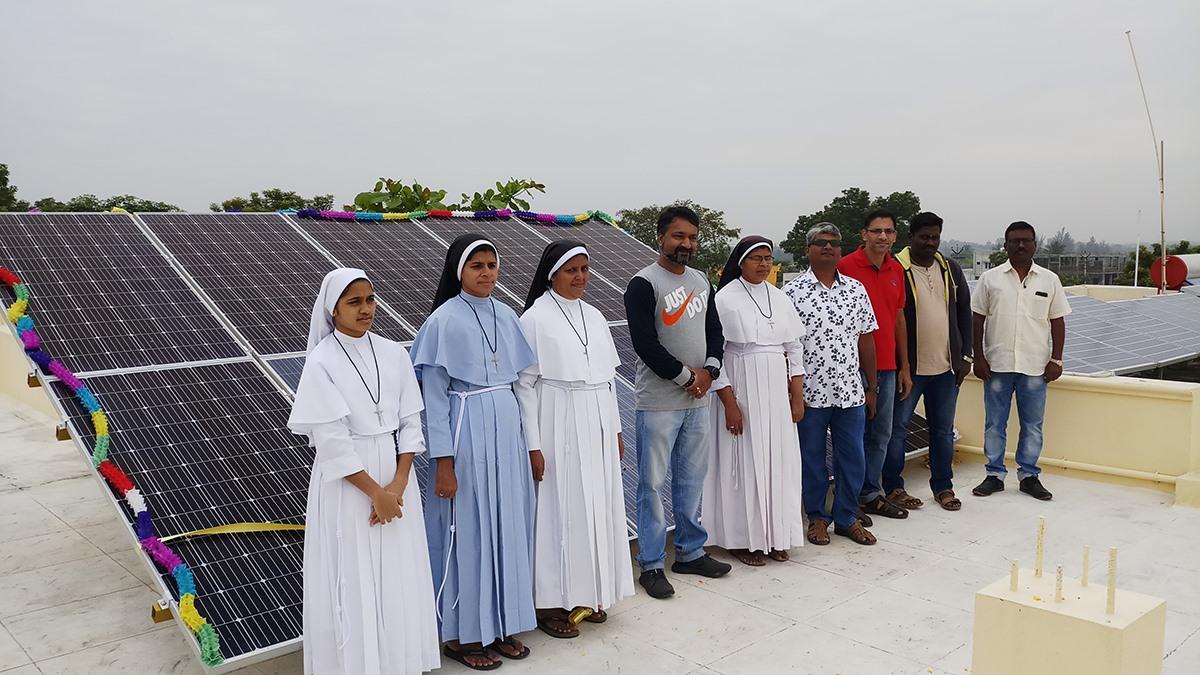 Solar Panel Installation Karunai Illam