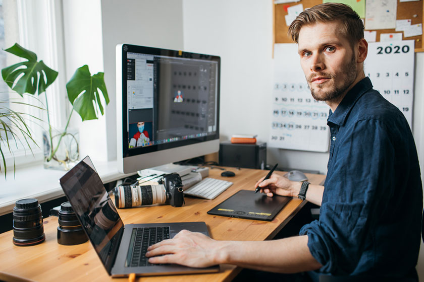 man focusing efforts for top productivity