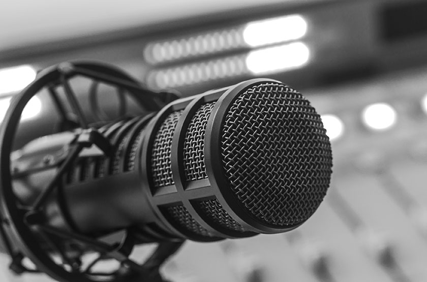 Grayscale Condenser Mic for podcast