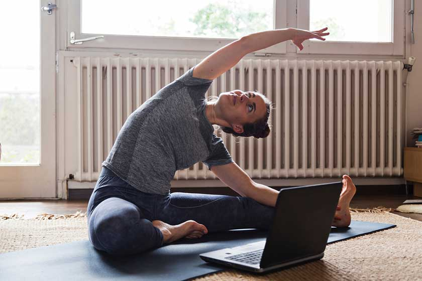 virtual yoga activity during the coronavirus pandemic