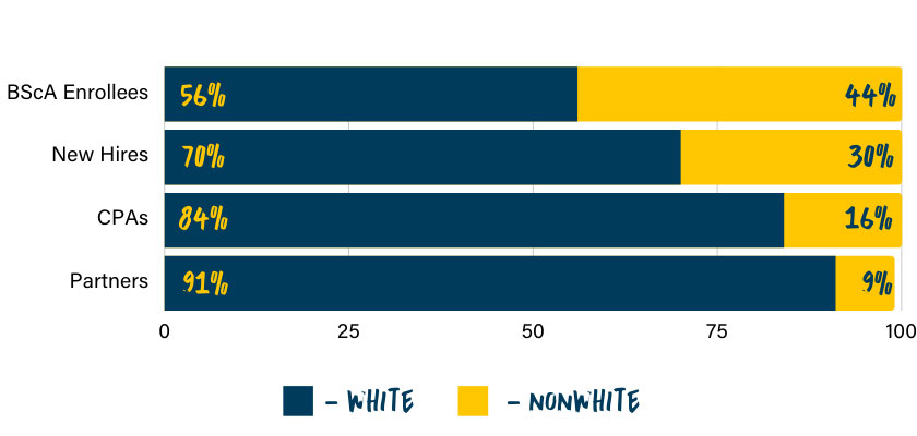 Racial Breakdown AICPA 2019 Graph