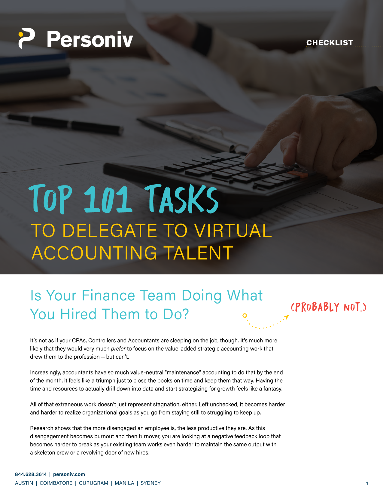 101 Tasks To Delegate To Virtual Accounting Teams