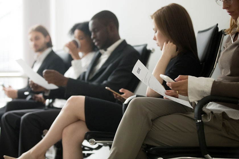 candidates waiting for accounting staffing firm