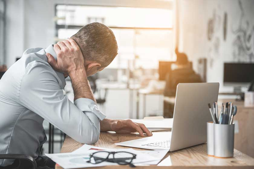 accountant stressed out after poor staffing agency recruitment process