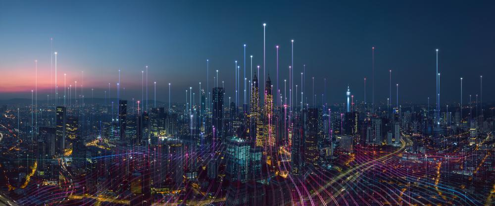technologic business landscape background