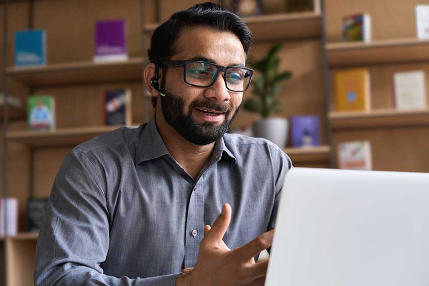 New virtual employee on initial meeting talking about long-term success