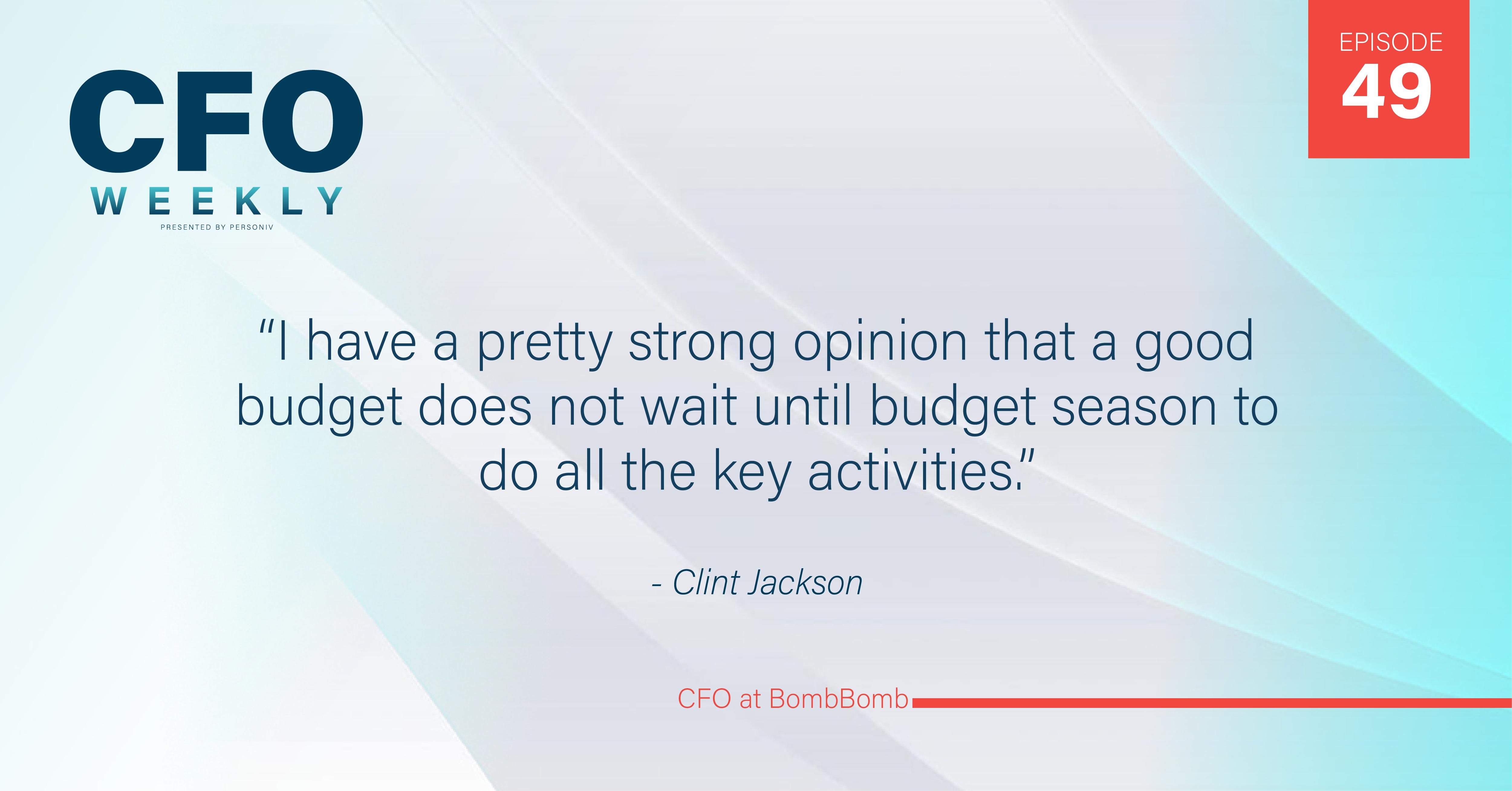 Clint Jackson, CFO