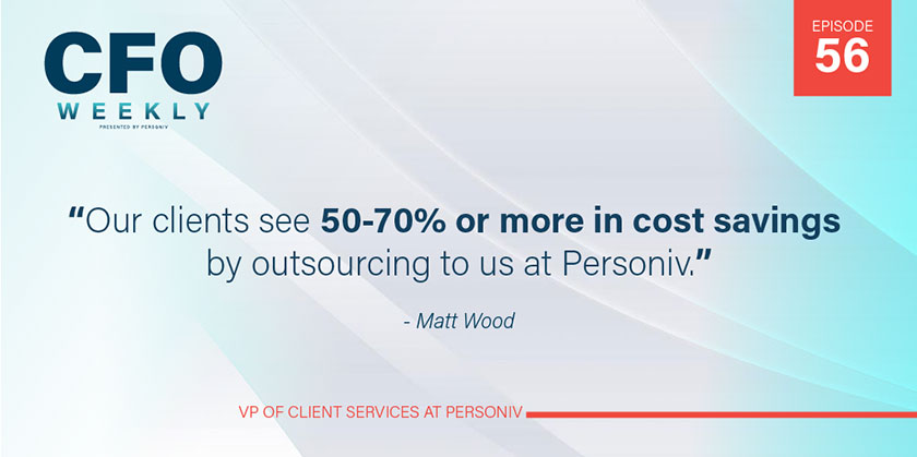 percentage savings when outsourcing accounting instead of using staffing firm