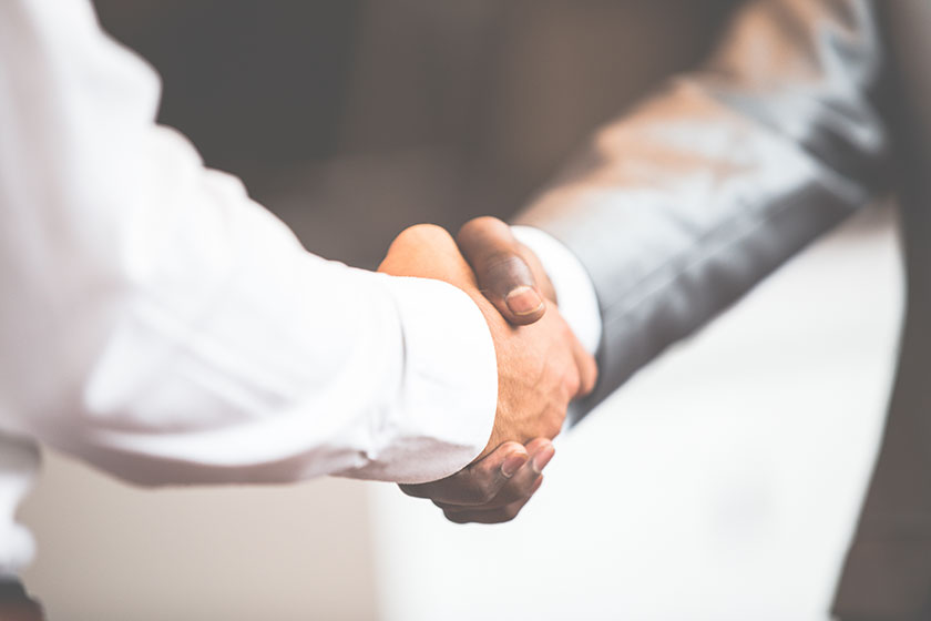 business owner upholding b2b relationships with his client