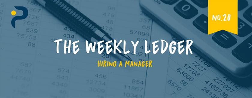 Hiring a manager Ledger