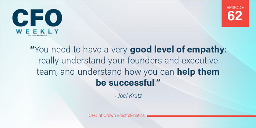 Joel Krutz Sustainable CFO