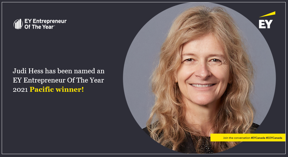 Copperleaf CEO Judi Hess Selected as a Finalist for EY Entrepreneur Of The Year 2021 Award | Copperleaf