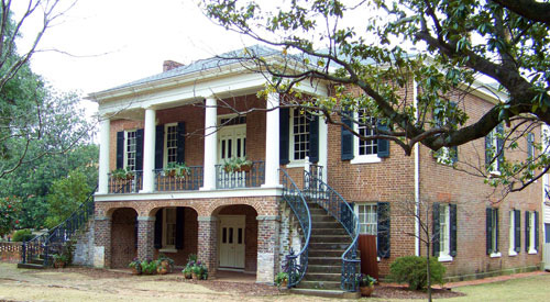 The Gorgas House on the University of Alabama campus in Tuscaloosa, Alabama.