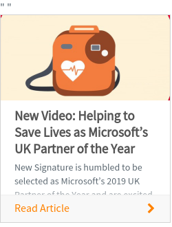 New Video: Helping to Save Lives as Microsoft's UK Partner of the Year