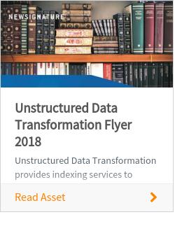 Unstructured Data Transformation Flyer 2018