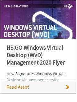 NS:GO Windows Virtual Desktop (WVD) Management 2020 Flyer