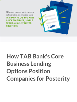 How TAB Bank's Core Business Lending Options Position Companies for Posterity