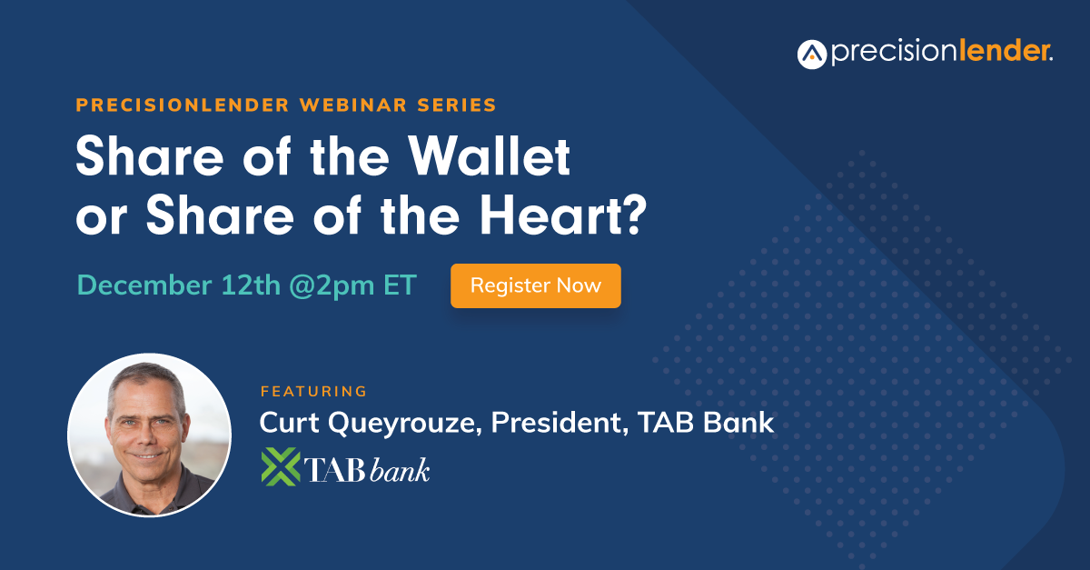 "Images says, ""Share of the Wallet or Share of the Heart? Webinar with Curt Queyrouze."" Includes image of Curt."
