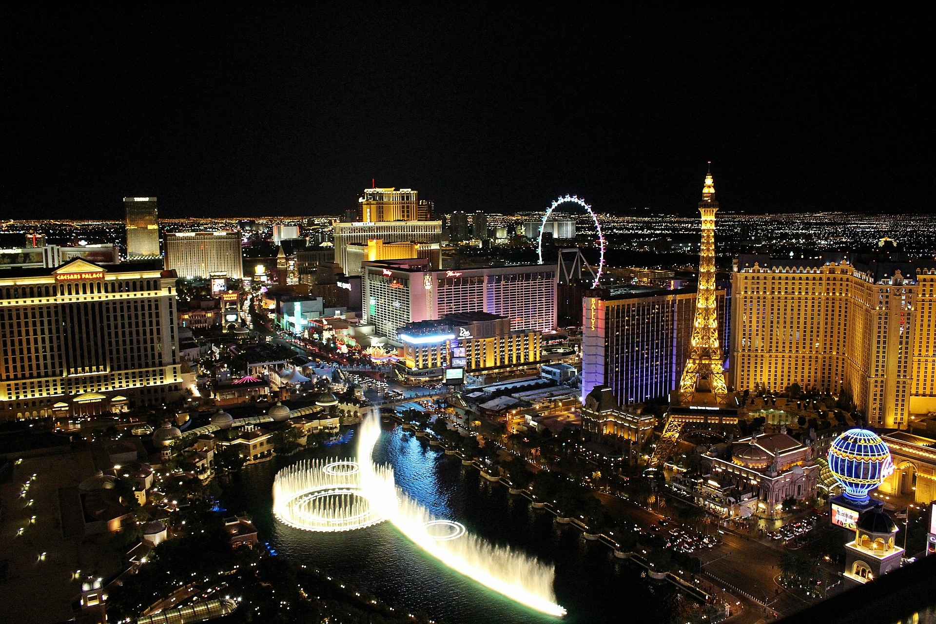 Image of the Las Vegas strip at night with hotels and lights - TAB Bank