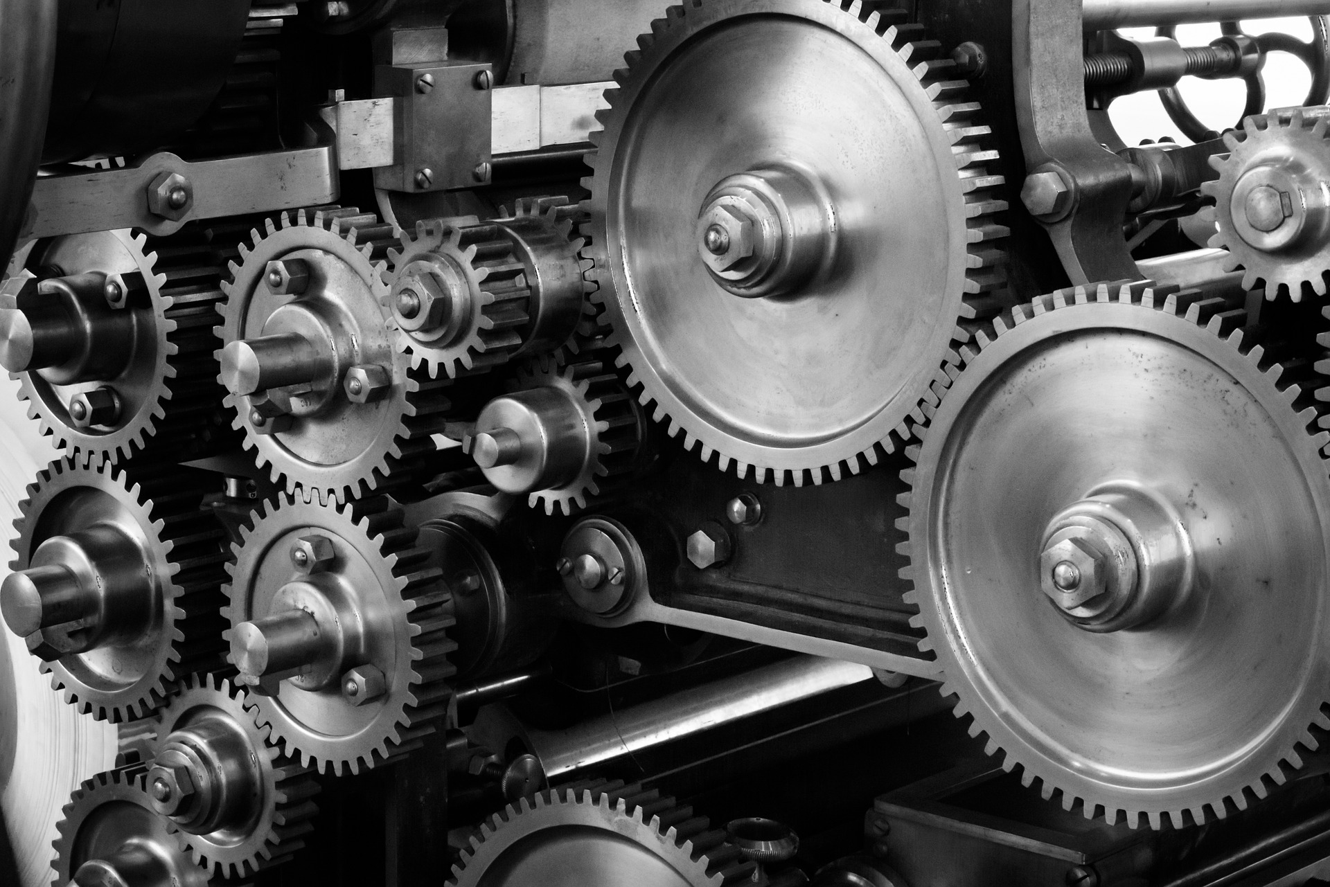 Picture of gears on a machine - TAB Bank