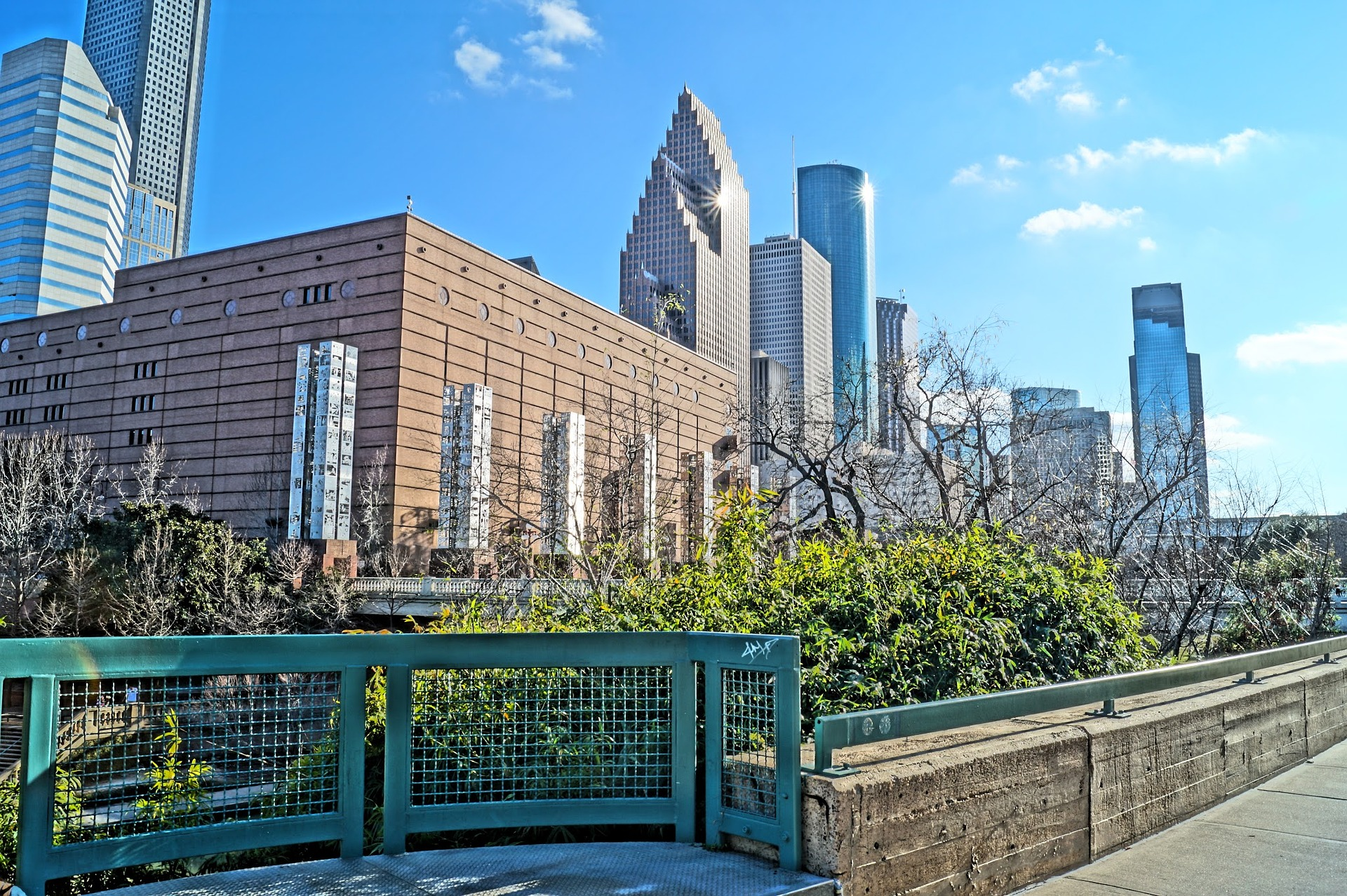 Image of the Houston, Texas skyline from a downtown park | TAB Bank